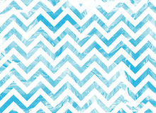 Watercolor blue marble stripes background, chevron. Royalty Free Stock Photography