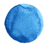 Watercolor blue marina circle on white background Stock Images
