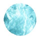 Watercolor blue marina circle on white background Royalty Free Stock Image