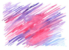 Watercolor blue pink lilac violet spot texture background Stock Image
