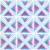 Watercolor blue and pink  pattern Royalty Free Stock Photo