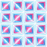 Watercolor blue and pink  pattern Royalty Free Stock Images