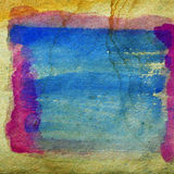 Watercolor blue, red abstract background paint Royalty Free Stock Photos