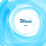 Watercolor blue sea wave Stock Images