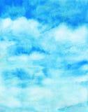 Watercolor blue sky abstract texture Stock Photos