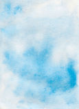 Watercolor blue sky abstract texture Stock Image