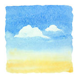 Watercolor blue sky Royalty Free Stock Photography