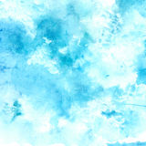 Watercolor blue sky texture with swashes and Stock Photography