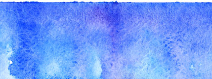 Watercolor blue sky water space galaxy abstract background stock photo