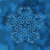 Watercolor blue  snowflakes background vector wallpaper Stock Photography