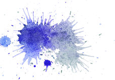Watercolor Blue splashes Stock Photography