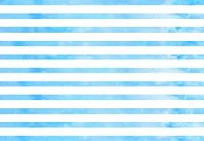 Background with blue horizontal watercolor lines Royalty Free Stock Photo