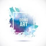 Watercolor blue texture. Vector watercolor blue frame. Vector blue background. Watercolor texture frame Royalty Free Illustration