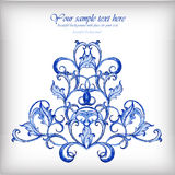 Watercolor blue vector background.Gzhel details Royalty Free Stock Images