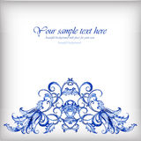 Watercolor blue vector background.Gzhel details Stock Photography