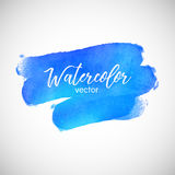 Watercolor Blue Vector Element For Text Background. Art Stock Photo