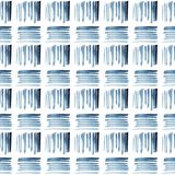 Watercolor blue and white ethnic seamless pattern stock image