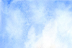Watercolor blue white sky template texture background Royalty Free Stock Photos