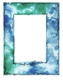 Watercolor blurs - frame royalty free stock photos