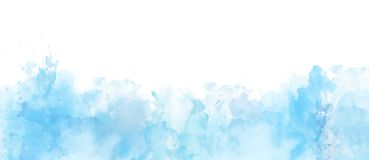 Watercolor border isolated on white, artistic background royalty free stock photography