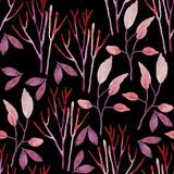 Seamless hand illustrated floral pattern. royalty free illustration