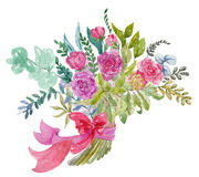 Watercolor bouquet Royalty Free Stock Photos