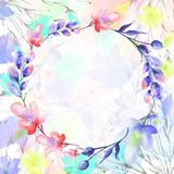 Watercolor bouquet of flowers royalty free illustration