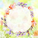 Watercolor bouquet of flowers.Floral background. garden   flowers stock illustration