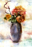 Watercolor bouquet of flowers Royalty Free Stock Images