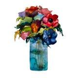 Watercolor bouquet Stock Images