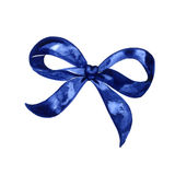 Watercolor bow set. Different blue bows and ribbons for holidays, greeting, celebration as Christmas, birthday Stock Image