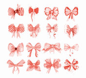 Watercolor bow set. Royalty Free Stock Images