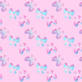 Watercolor bows on pink background Royalty Free Stock Images