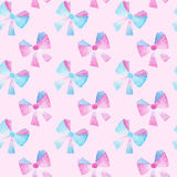 Watercolor bows seamless pattern texture Stock Photos