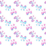 Watercolor bows seamless pattern on white background Royalty Free Stock Photo