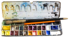 Watercolor box Royalty Free Stock Photography