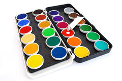 Watercolor box Royalty Free Stock Photos