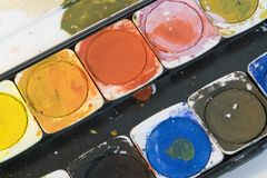 Watercolor box Stock Photography