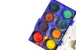 Watercolor box Stock Photo