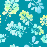 Watercolor branch pattern Stock Photos