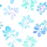 Watercolor branch pattern Royalty Free Stock Photography