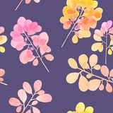 Watercolor branch pattern Stock Photography