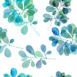 Watercolor branch pattern Stock Photo
