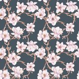 Watercolor branches of magnolia,seamless pattern Royalty Free Stock Photos