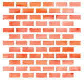 Watercolor brick wall. Orange watercolor brick wall. Design element. EPS8 Royalty Free Illustration
