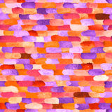 Watercolor bricks. Vector abstract seamless pattern. Stock Photo