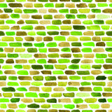 Watercolor bricks. Vector abstract seamless pattern. Royalty Free Stock Photos
