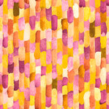 Watercolor bricks. Vector abstract seamless pattern. Royalty Free Stock Photography