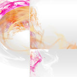 Watercolor. Bright background with interventions  of abstract color Stock Photos