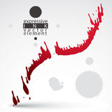 Watercolor bright graffiti splash element, inaccurate paint back Royalty Free Stock Images